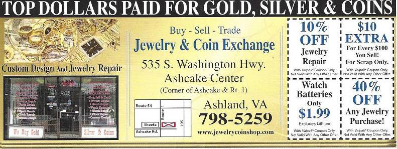 Jewelry and Coin Exchange Promotions